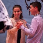Students in ballroom dancing at St. Rose of Lima Catholic Academy